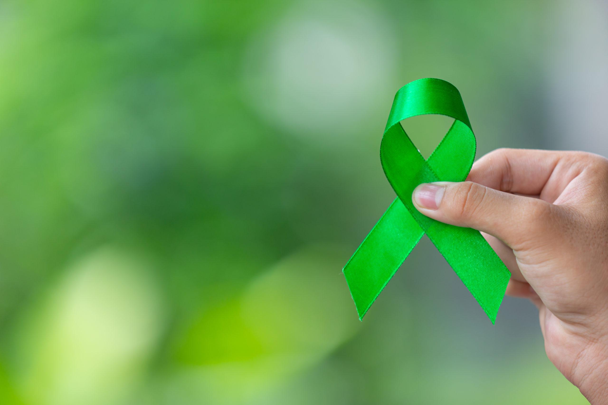Mental health awareness month ribbon